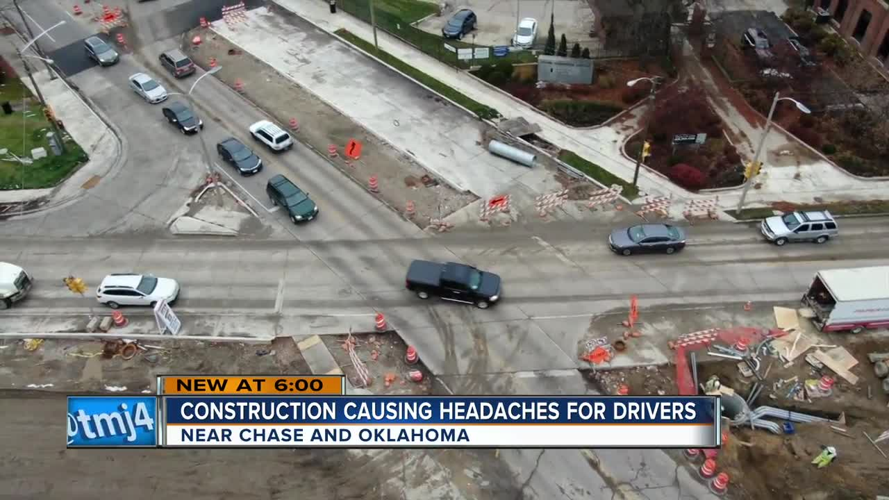 Drivers frustrated over Chase and Oklahoma construction, progress expected in coming weeks