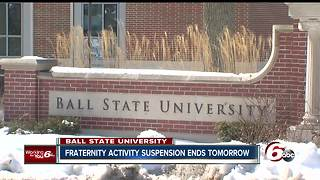 Ball State fraternity activity suspension ending - Video