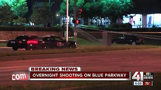 KCPD officers find 1 person dead in bullet-riddled car on Blue Parkway - Video