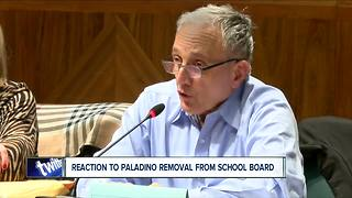 Mixed reaction to Carl Paladino's removal from school board - Video