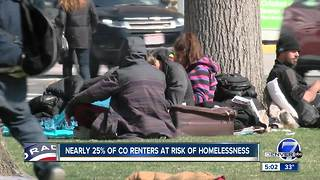 Nearly 25 percent of Colorado renters are at risk of homelessness - Video