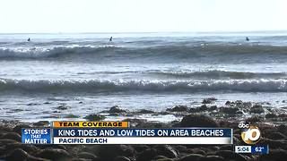 King tides reach San Diego beaches - Video