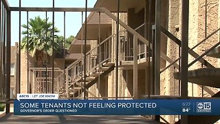 Renters told to leave despite Governor's protective order