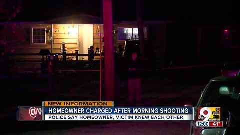 Homeowner charged after shooting