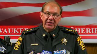 Acting Milwaukee Co Sheriff Schmidt on I-43 freeway shots fired - Video