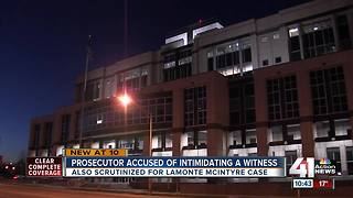 Prosecutor accused of threatening a witness - Video