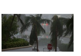 Miami Coastline Slammed With Hard Winds and Rain - Video