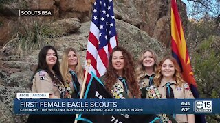 First class of female Eagle Scouts to be honored Sunday at national ceremony