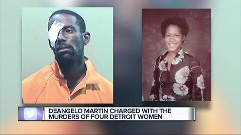 Deangelo Martin charged with the murders of 4 Detroit women