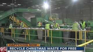 American Waste Control recycling all Christmas waster for free - Video