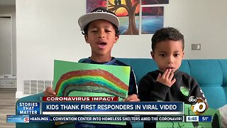 Kids thank first responders in viral video