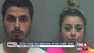 BEACH BUST: Couple found with marijuana-infused candy and a gun on Fort Myers Beach