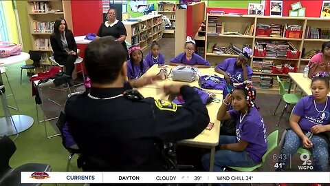 Cincinnati Police Department and Girls with Pearls work together to motivate young leaders