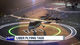 Uber unveils flying taxi service