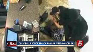 Clarksville Police Search For Bat Wielding Robber - Video