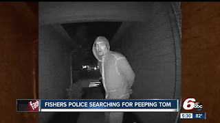 Fishers police looking for peeping Tom - Video