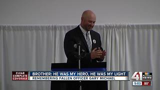Hundreds gather for fallen officer's funeral