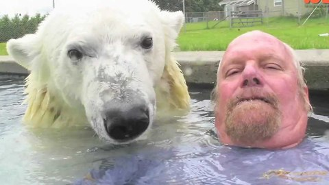 This Is The Only Man In The World Who Can Swim With A Polar Bear