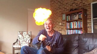Science teacher blows-up hydrogen balloon in front of family