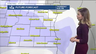 Cold continues with chance for snow Thursday