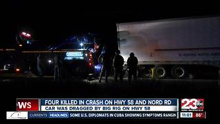Four locals were killed in a crash in northwest Bakersfield - Video