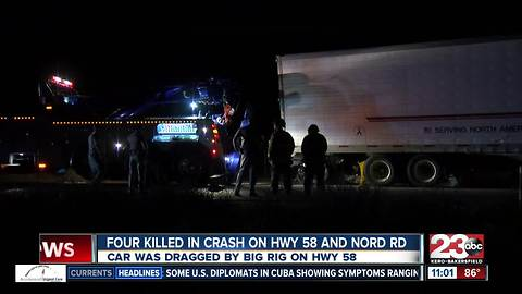 Four locals were killed in a crash in northwest Bakersfield
