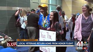 Local veterans return home from Honor Flight - Video