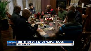 Inspiring dinner at Ujima House - Video