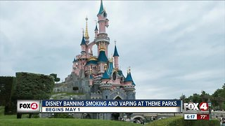 Disney banned smoking in their parks