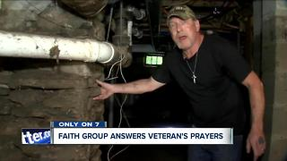 Disabled vet gets help from volunteers to repair condemned home
