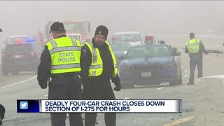 Deadly crash closes section of I-275 for hours