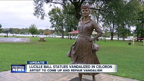 Artist to repair vandalized Lucille Ball statue in Celoron