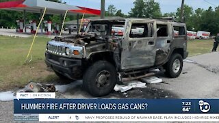 Fact or Fiction: Hummer fire