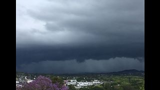 Timelapse Shows Storm Rolls Into Nambour, Queensland - Video