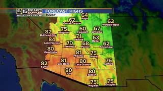 Valley highs sit around 80 degrees today - Video