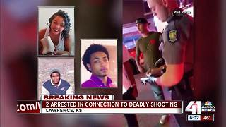 Two men arrested in connection to triple homicide in downtown Lawrence - Video