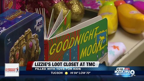 New toy closet at TMC getting sick kids to smile