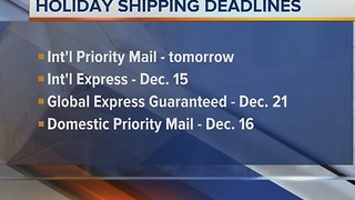 Holiday shipping deadlines are fast approaching! - Video
