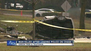 A Milwaukee man was killed after leading police on a chase