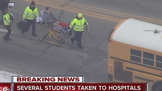 Patients being treated at four area hospitals from Lawrence North School bus crash - Video