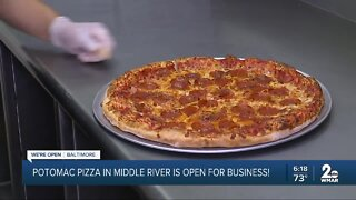 Potomac Pizza in Middle River is open for business