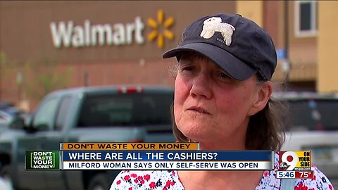 Why aren't there human cashiers at Walmart?