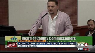 Collier County Commissioners vote on pet ban