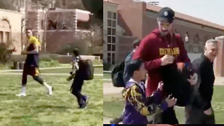 Larry Nance Jr Completely IGNORES Kid, but Kevin Love Saves The Day! - Video