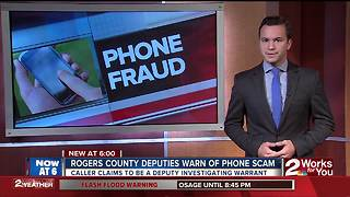 Rogers County Sheriff's Office warns of scam - Video
