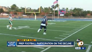 Prep football participation in San Diego on the decline