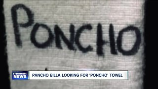 Have you seen this towel? Pancho Billa needs your help
