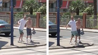 Elderly men so drunk after '24-hr Benidorm bender' they are foiled by zebra crossing