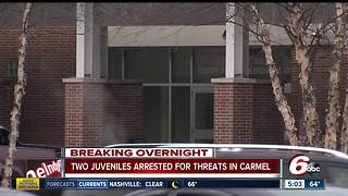 Two students arrested in connection with social media threats toward Carmel High School - Video