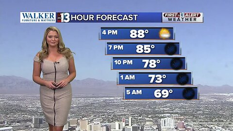 Las Vegas weather, 13 hour forecast at 3 pm